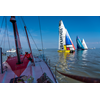 OCEAN RACE START IN SLOW MOTION TIENDE LEG